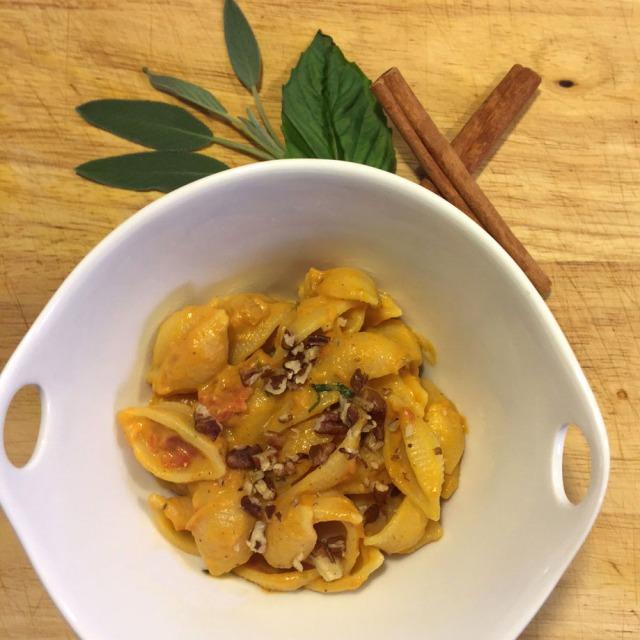 Pumpkin and cashew cream pasta sauce